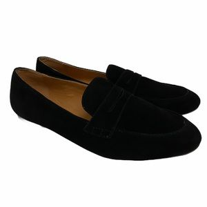J. CREW Black Suede Slip On Shoes 8.5